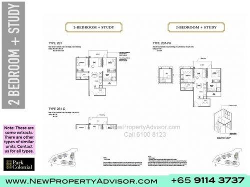 Park Colonial Floor Plan 2 bedroom plus study