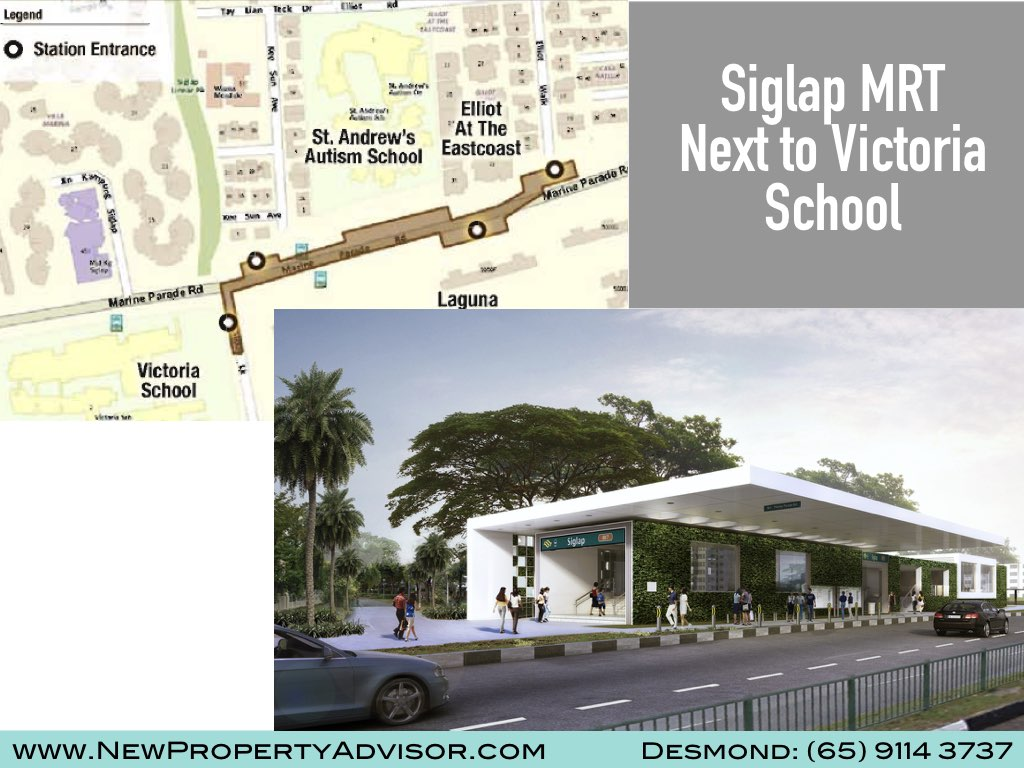 Siglap MRT next to Victoria School