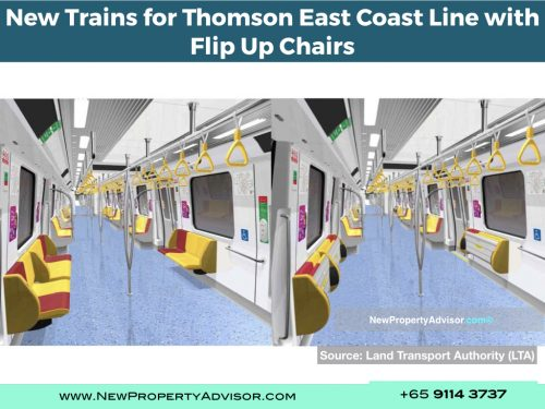 TEL new trains flip up chairs