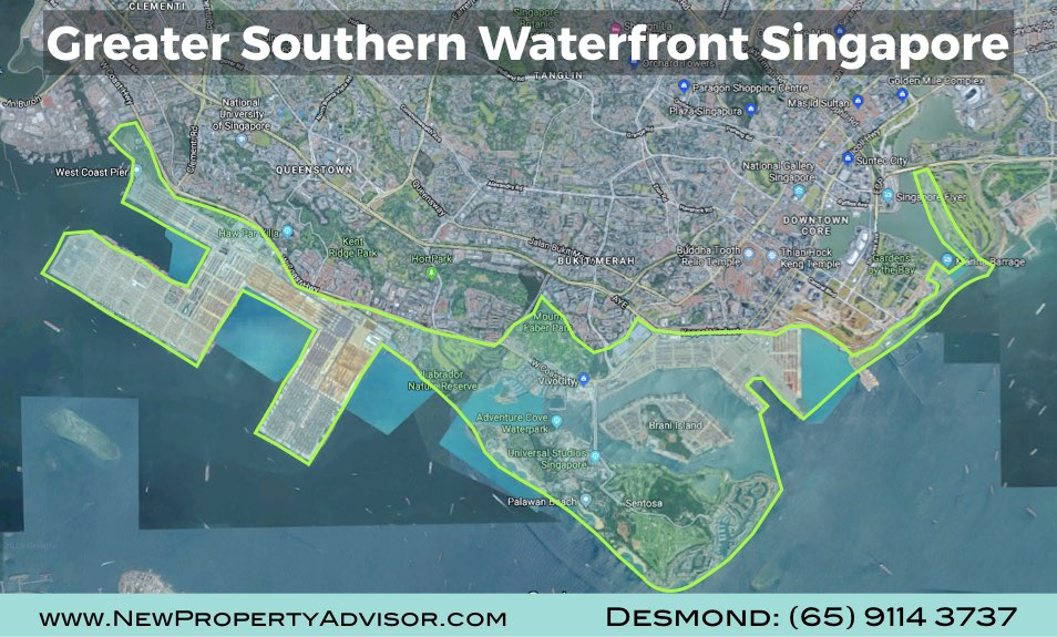 location of greater southern waterfront singapore